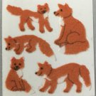 Sandylion Fuzzy Stickers FOX foxes Retro Rare Vintage Retired FM221