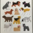 Sandylion Fuzzy Stickers DOGS Mini Retro Rare Vintage Retired FM334