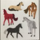 Sandylion Fuzzy HORSES Retro Rare Vintage Retired FM335