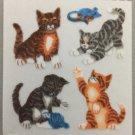 Sandylion Fuzzy Stickers CAT KITTEN TABBIE Retro Rare Vintage Retired FM358