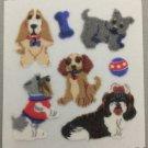 Sandylion Fuzzy DOGS Puppy Retro Rare Vintage Retired FM366