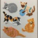 Sandylion Fuzzy Stickers KITTEN Cat Retro Rare Vintage Retired FM368