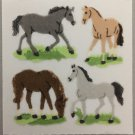 Sandylion Fuzzy Stickers HORSES Retro Rare Vintage Retired FM369
