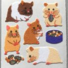 Sandylion Fuzzy Stickers HAMSTERS Retro Rare Vintage Retired FM380