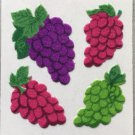 Sandylion Fuzzy Stickers GRAPES Fruit Retro Rare Vintage Retired FM383