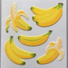 Sandylion Fuzzy Stickers BANANAS Fruit Retro Rare Vintage Retired FM384
