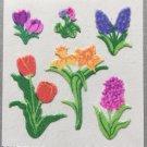 Sandylion Fuzzy Stickers SPRING FLOWERS Retro Rare Vintage Retired FM403
