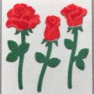 Sandylion Fuzzy Stickers RED ROSES Retro Rare Vintage Retired FM408