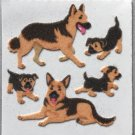 Sandylion Fuzzy Stickers GERMAN SHEPHERD Dog Puppy Retro Rare Vintage Retired Scrapbook FM421