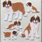 Sandylion Fuzzy Stickers SAINT St BERNARD Dog Puppy Retro Rare Vintage Retired FM422