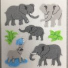 Sandylion Fuzzy Stickers ELEPHANT Retro Rare Vintage Retired FM428