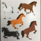 Sandylion Fuzzy Stickers HORSE Retro Rare Vintage Retired FM433