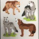 Sandylion Fuzzy Stickers WOLF wolves Retro Rare Vintage Retired FM438