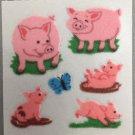 Sandylion Fuzzy PIG piglet Retro Rare Vintage Retired FM449