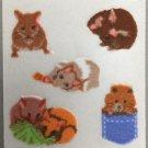 Sandylion Fuzzy Stickers HAMSTERS Retro Rare Vintage Retired FM455