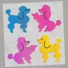 Sandylion MOP Mother of Pearl Stickers POODLE Retro Rare Vintage Retired MOP028