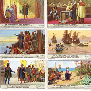 De Ontdekking Van Amerika Liebig Trading Cards, 1942 edition, Set of 6