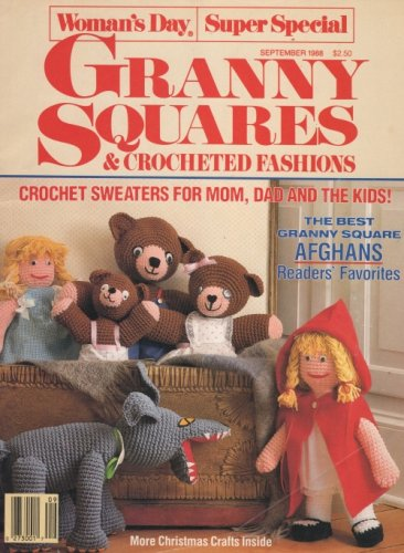 Christmas Craft Granny Squares Crocheted Fashions Womans Day Super Special September 1988
