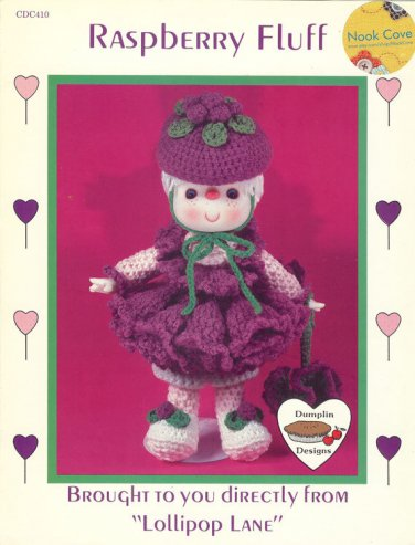 Raspberry Fluff Crochet Doll Pattern Dumplin Designs Lollipop Lane Vintage Patterns