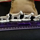 "1950s 1.5 to 2"" wide plastic dog figures set 6 breeds Kelloggs"