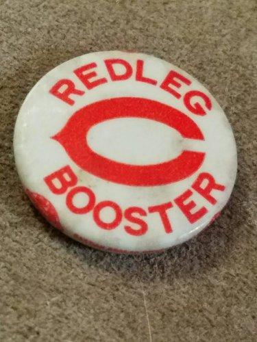 Cincinnati Reds Redleg Booster Pinback 1946 pin #1