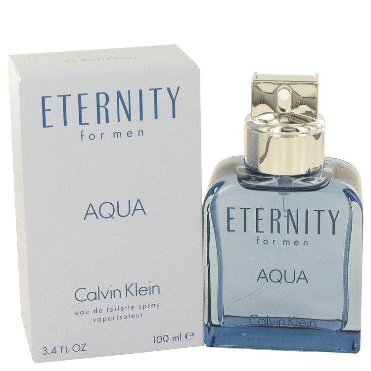 Eternity Aqua by Calvin Klein, Eau De Toilette Spray 3.4 oz