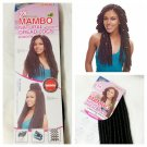 "JANET COLLECTION 2X MAMBO NATURAL DREADLOCKS CROCHET BRAIDING HAIR 18"" 15 STRANDS 1B (OFF BLACK)"