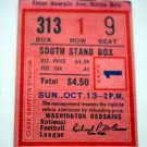 Ticket Stub Washington Redskins 1960s