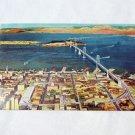 Postcard, Vintage, Oakland Bay Bridge-San Francisco, Late 1940s