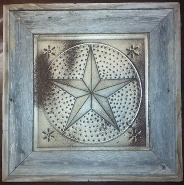 Texas Star in Wood Frame