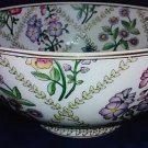 Large Vintage 10 inch Chinese Ceramic Floral Bowl