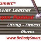 Weightlifting Gloves All Leather Padded
