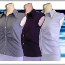 Ladies Stretchable Blouse (W/Buttons)