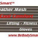 Weightlifting Gloves Leather Mesh Back