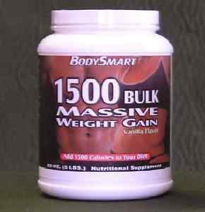 1500 BULK MASSIVE WEIGHT GAIN, 5 LB, Vanilla/Chocolate