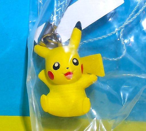 "Pikachu - Pokemon Netsuke Mascot Straps ""Eevee Friends""!"