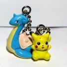 Lapras & Pikachu Pokemon Keychain figure strap