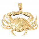 14K GOLD NAUTICAL CHARM - CRAB #731