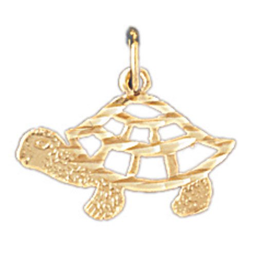 14K GOLD NAUTICAL CHARM - TURTLE #1012