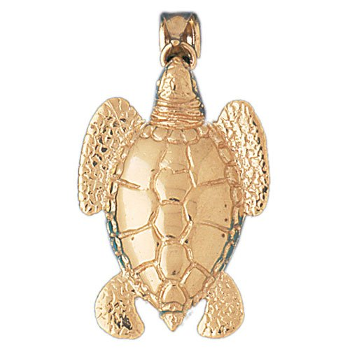 14K GOLD NAUTICAL CHARM - TURTLE #964