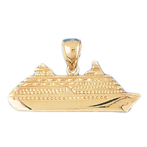 14K GOLD NAUTICAL CHARM - CRUISE SHIP  #1287