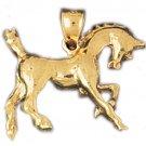 14K GOLD ANIMAL CHARM - #HORSE #1842