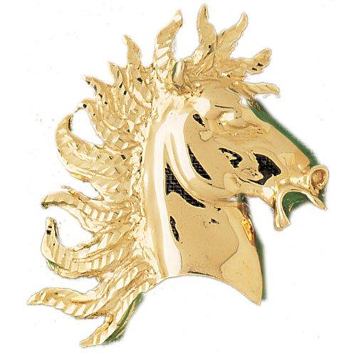 14K GOLD ANIMAL CHARM - #HORSE #1753