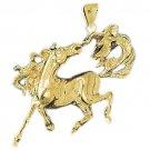 14K GOLD ANIMAL CHARM - #HORSE #1741
