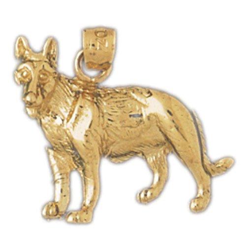14K GOLD ANIMAL CHARM - DOG #2133