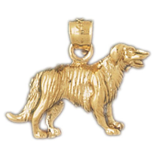 14K GOLD ANIMAL CHARM - DOG #2131
