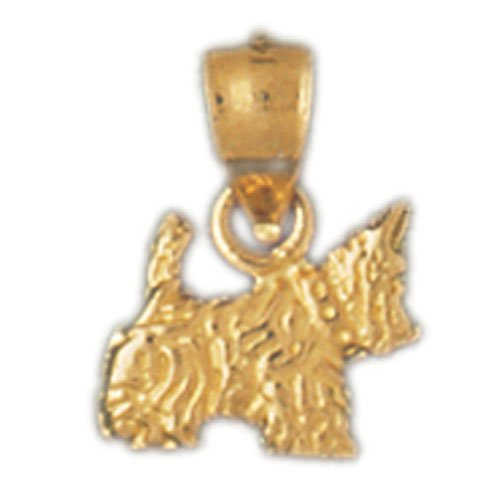 14K GOLD DOG CHARM / PENDANT - SCOTISH TERRIER #2086