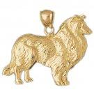 14K GOLD ANIMAL CHARM - DOG #2074