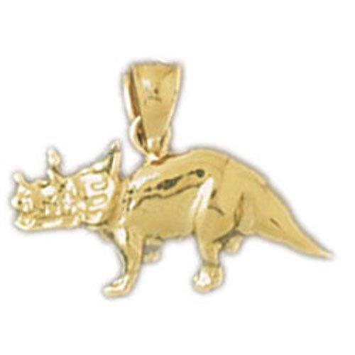 14K GOLD ANIMAL CHARM - DINOSAUR #2279