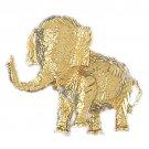 14K GOLD ANIMAL CHARM - ELEPHANT #2309